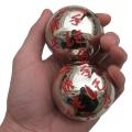55mm钛白金手工雕刻健身球